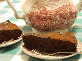 Home made gebak bij Theeschenkerij het Melkmeisje in Friesland