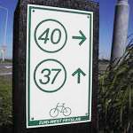 """routebordje van Fietsroutenetwerk Fryslan """"Zuidwest"""" title="""